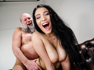 GrandpasFuckTeens - Ava Black,Albert - Busty Teen Worshiper