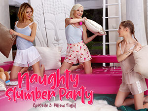 LezCuties - Zazie Skymm,Rebecca Volpetti,Tiffany Tatum - Naughty Slumber Party: Pillow Fight!