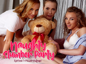 LezCuties - Lina Mercury,Angel Emily,Poppy Pleasure - Naughty Slumber Party: Power Outage!