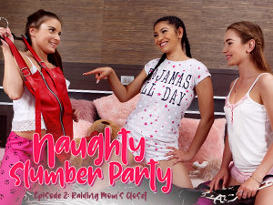 LezCuties - Anita Bellini,Mary Rock,Ava Black - Naughty Slumber Party: Raiding Moms Closet