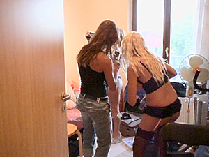 ClubSandy - Sandy, Dorothy Black - Backstage of Horny blondines