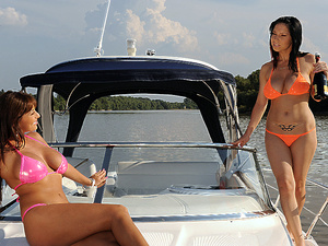 ClubSandy - Alison Star, Daisey Lee - Boat fun