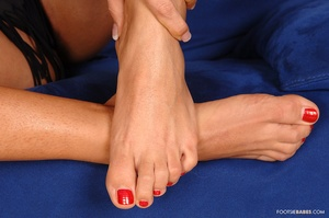 FootsieBabes - Eva Black - Eva - Red and black