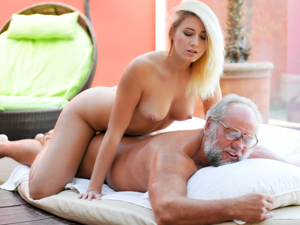 GrandpasFuckTeens - Aria Logan, Albert - Grandpa Got Me Wet