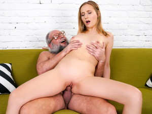 GrandpasFuckTeens - Kiki Cyrus, Albert - Kiki's Fun With A Horny Old Man