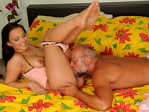 GrandpasFuckTeens - Tiana - Tiana's Big Bear