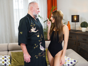 GrandpasFuckTeens - Sarah Cute,Albert - Dirty Old Landlord