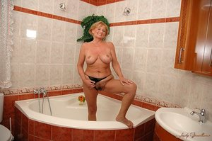 LustyGrandmas - Sally G. - In the shower