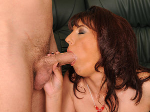 LustyGrandmas - Gina Red - MILF on cock-hunt