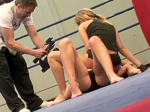 NudeFightClub - Aleska Diamond, Cristal May - NudeFightClub backstage with Aleska Diamond and Cristal May