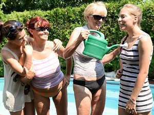 OldYoungLesbianLove - Szuzanne,Candy Bell,Bella Beretta,Livia - Awesome Foursome